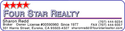 Real Estate in Humboldt County from Sharon Redd and Four Star Realty